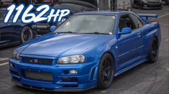 1162HP Skyline R34 GTR Godzilla Ride Along - BADDEST Skyline in the USA?!