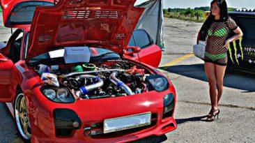 Crazy JDM - MAZDA RX 7 | Drift | Burnouts | Turbo Loud Sound