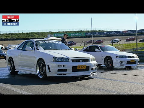 Skyline R34 V-Spec vs Skyline R33 V-Spec - Drag Race!