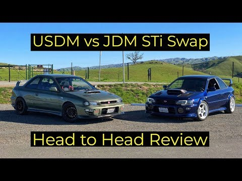 Subaru GC8 Impreza USDM vs JDM STi Swap - Is JDM Always Better?